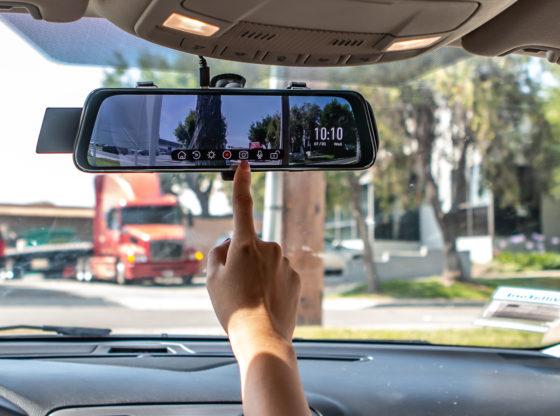 Acumen XR10 Digital Rearview Mirror in use