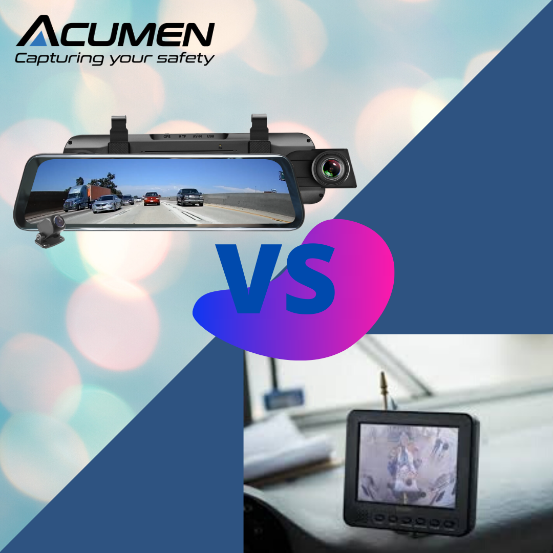 Digital rearview mirror dash cam vs backup camera