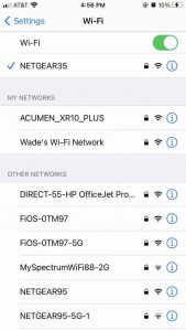 wifi and app connectivity