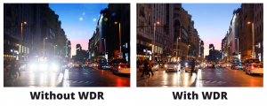 contrast between WDR vs Non WDR